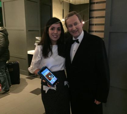 Lisa Marie with An Taoiseach