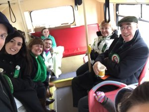 avail on the St Patrick's Day bus
