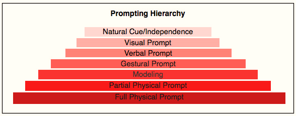 Image result for prompting hierarchy aba